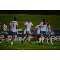 Chicago Red Stars celebrate Sam Kerr's goal