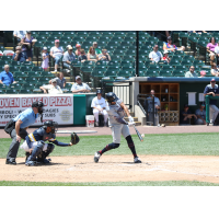 Michael Crouse of the Somerset Patriots makes contact