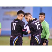 Irvin Raul Parra gave the Las Vegas Lights FC captain's armband to Bryan De La Fuente, who had suffered a torn ACL in preseason action