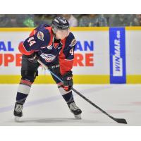 Defenceman Nathan Staios with the Windsor Spitfires