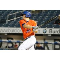 Syracuse Mets pitcher Chris Flexen had a go-ahead RBI single in the second game of Monday night's doubleheader