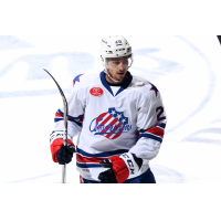 Forward Garret Ross with the Rochester Americans