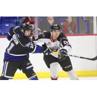 Vancouver Giants defenceman Nicholas Draffin vs. the Victoria Royals