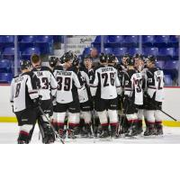 Vancouver Giants celebrate a pre-season win