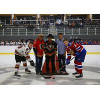 Calgary Hitmen pre-season ceremonial puck drop