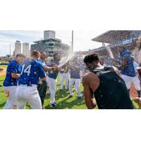 Tulsa Drillers celebrate their return to the Texas League Championship Series