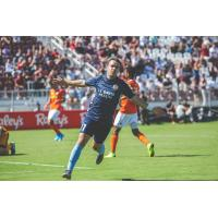 Sacramento Republic FC midfielder Sam Werner celebrates his goal