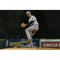 Pitcher James Karinchak with the Lynchburg Hillcats