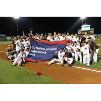 Jackson Generals celebrate the 2019 Texas League championship