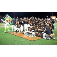 Long Island Ducks celebrate the Liberty Division championship