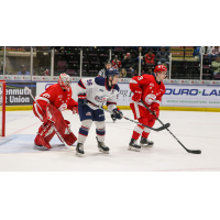 Saginaw Spirit left wing Damien Giroux vs. the Sault Ste. Marie Greyhounds