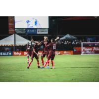 Sacramento Republic FC celebrate a goal against LA Galaxy II