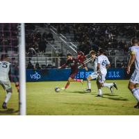 Sacramento Republic FC with possession against LA Galaxy II