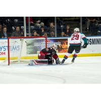 Kelowna Rockets forward Nolan Foote vs. the Prince George Cougars