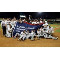 Long Island Ducks celebrate the 2019 Atlantic League championship