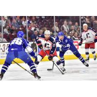 Cleveland Monsters center Justin Scott vs. the Syracuse Crunch