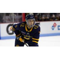 Defenseman Brandon Fortunato with Quinnipiac University