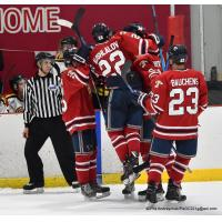 Johnstown Tomahawks celebrate a goal