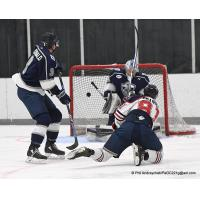 Johnstown Tomahawks forward Carson Grainer scores against the Wilkes-Barre/Scranton Knights