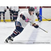 Johnstown Tomahawks in pink warmup jerseys