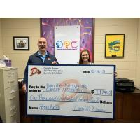 Danville Braves donate to the Danville-Pittsylvania Cancer Association