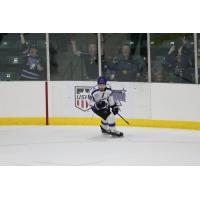 Benji Eckerle celebrates his goal for the Tri-City Storm