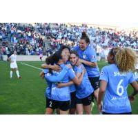 Chicago Red Stars celebrate their playoff victory