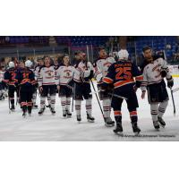 Johnstown Tomahawks shake hands with the Northeast Generals