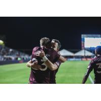 Sacramento Republic FC after their playoff win over New Mexico United