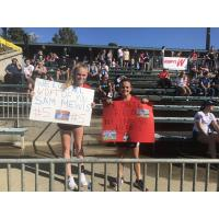 North Carolina Courage fans show their support at the NWSL Championship Game