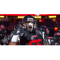Offensive lineman Justin Cook with the Orlando Predators