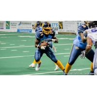Running back Nathaniel Chavious with the Cedar Rapids River Kings