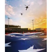 Flyover on opening night for the Fayetteville Woodpeckers