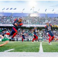 Montreal Alouettes in action at Percival Molson Memorial Stadium