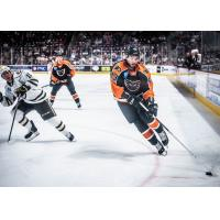 Lehigh Valley Phantoms defenseman T.J. Brennan vs. the Hershey Bears
