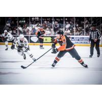 Lehigh Valley Phantoms left wing Greg Carey vs. the Hershey Bears