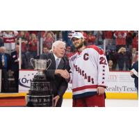 The Kelly Cup being awarded to the Allen Americans