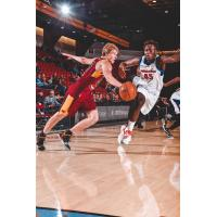 J.P. Macura of the Canton Charge (right) vies for the ball vs. Sekou Doumbouya of the Grand Rapids Drive