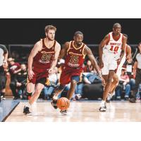 Dean Wade (right) and Sir'Dominic Pointer of the Canton Charge against the Windy City Bulls