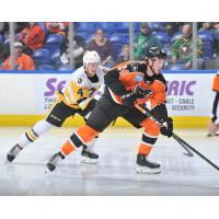 Lehigh Valley Phantoms forward Mikhail Vorobyev vs. the Wilkes-Barre/Scranton Penguins