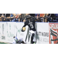 Wide receiver and kick returner Prince Shonola with the Carolina Cobras