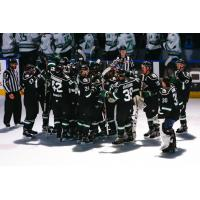 Utah Grizzlies celebrate a win over the Florida Everblades