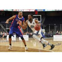 Halifax Hurricanes shooting guard Antoine Mason drives to the hoop