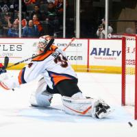 Lehigh Valley Phantoms goaltender Alex Lyon