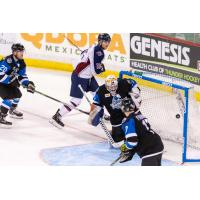 Tulsa Oilers forward Brent Gates Jr. scores against the Wichita Thunder