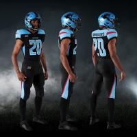 Dallas Renegades black and blue uniform