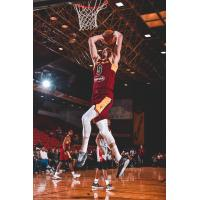 Dylan Windler of the Canton Charge goes up for a dunk against the Rio Grande Valley Vipers