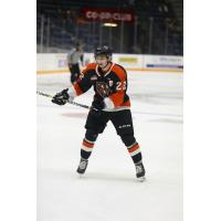 Forward Tyler Preziuso with the Medicine Hat Tigers