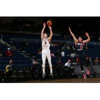 Dylan Windler of the Canton Charge shoots against the Capital City Go-Go