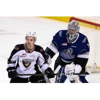 Victoria Royals goaltender Shane Farkas vs. the Vancouver Giants